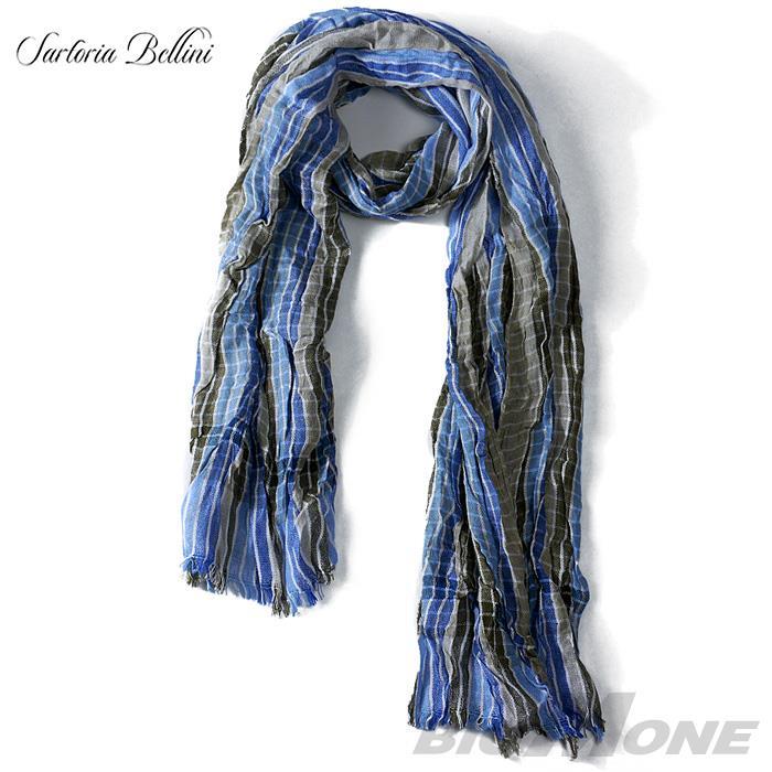 【スカーフ】SARTORIA BELLINI チェック柄ロングストール azsc-045