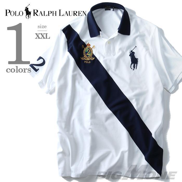 大きいサイズ メンズ POLO RALPH LAUREN  半袖ビッグポニー鹿の子ポロシャツ CLASSIC FIT  USA直輸入 710-660725-00