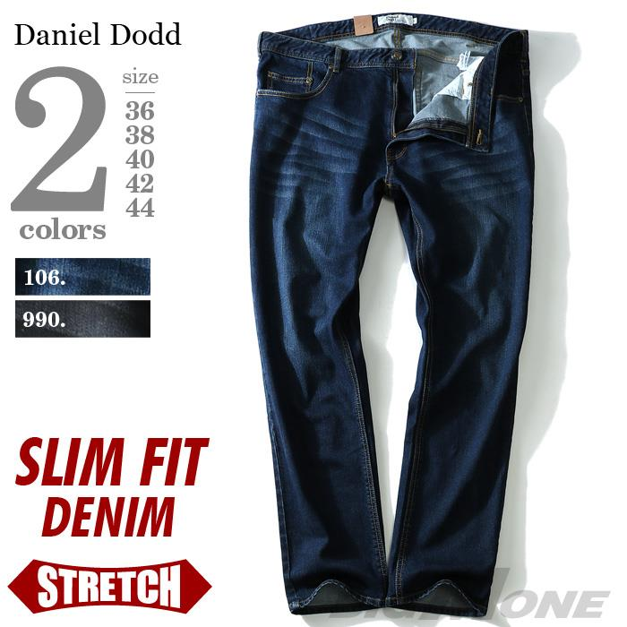 大きいサイズ メンズ DANIEL DODD スリムフィット ストレッチ デニムパンツ ジーパン デニム azd-195