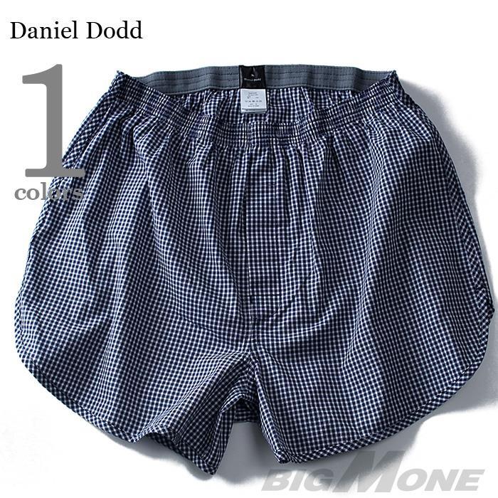 大きいサイズ メンズ DANIEL DODD インナー 前開き 布帛先染め トランクス 肌着 下着 azut-034
