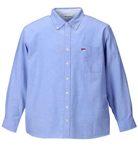 H by FIGER オックス長袖B.Dシャツ サックス 1167-7320-3