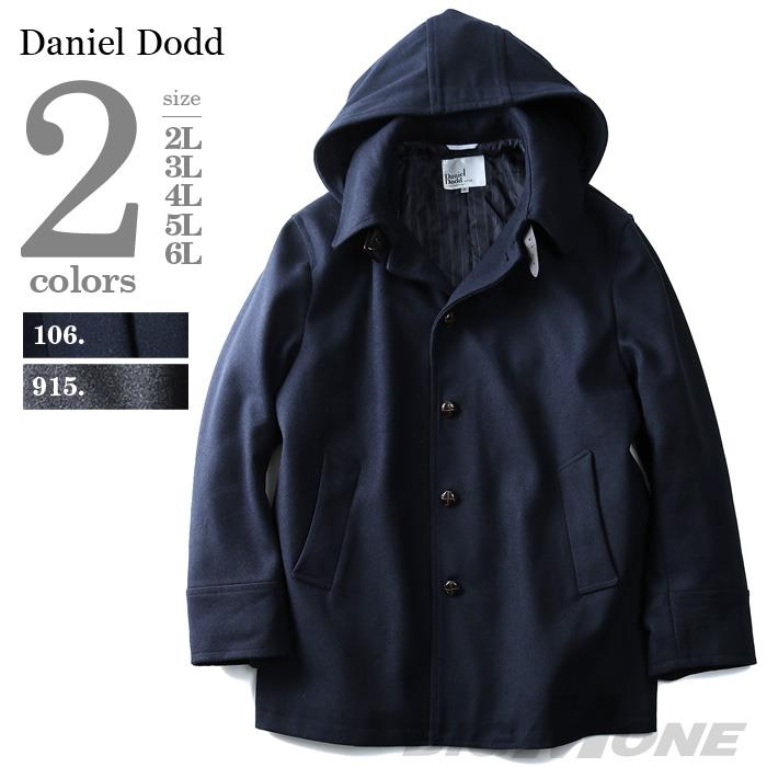 大きいサイズ メンズ DANIEL DODD ウール混 ラウンド カラーコート azb-1345