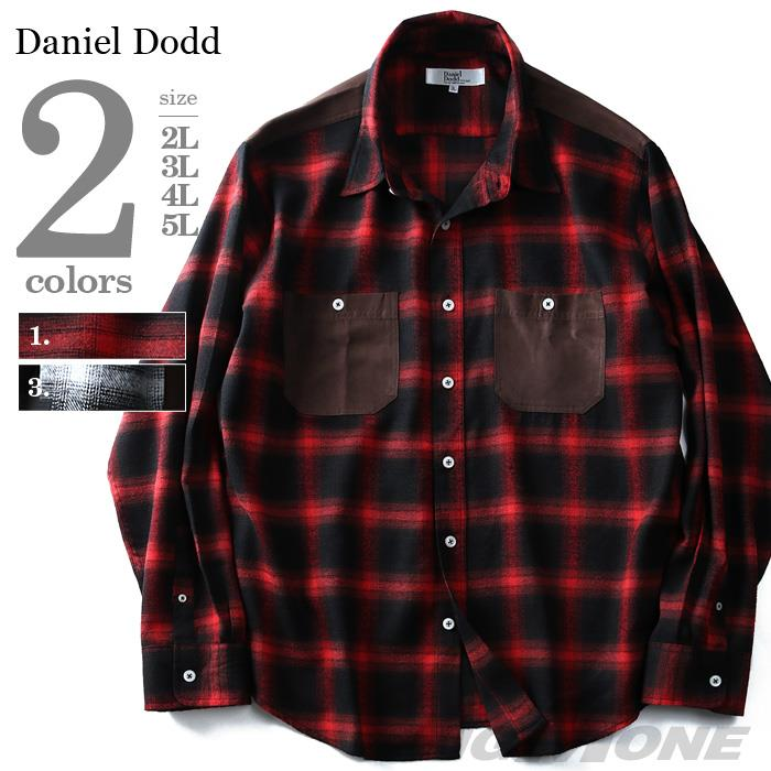 DANIEL DODD 長袖フランネルオンブレスウェード切替レギュラーシャツ 916-170405