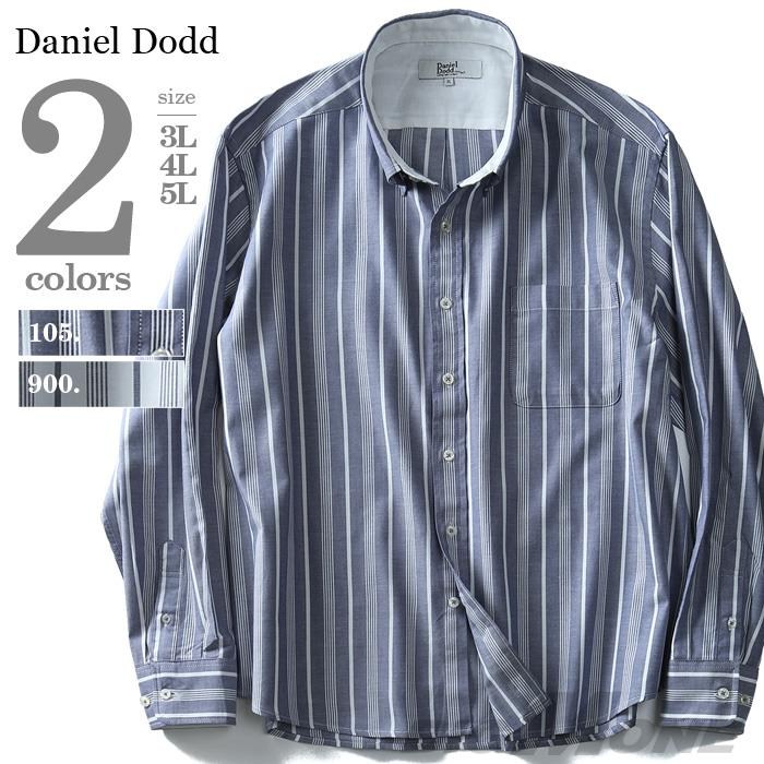DANIEL DODD 長袖ストライプ柄ボタンダウンシャツ azsh-180113