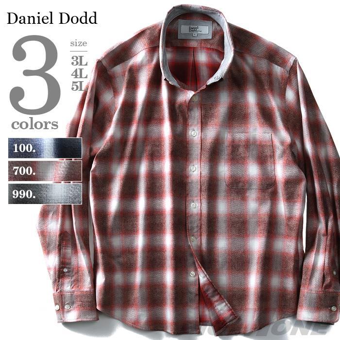 DANIEL DODD 長袖オンブレチェックレギュラーシャツ azsh-180118