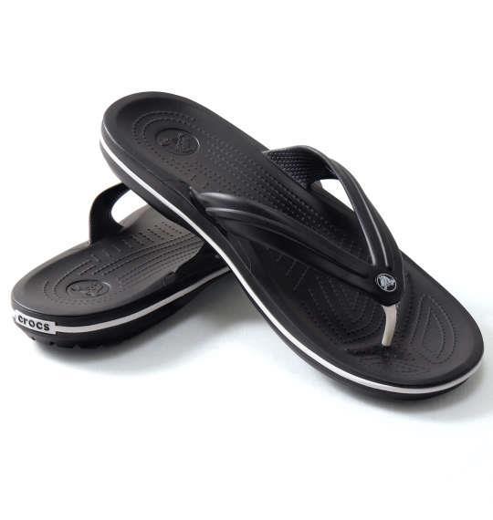 大きいサイズ メンズ crocs サンダル シューズ 靴 クロックバンドTM フリップ ブラック 1140-8205-1 M13