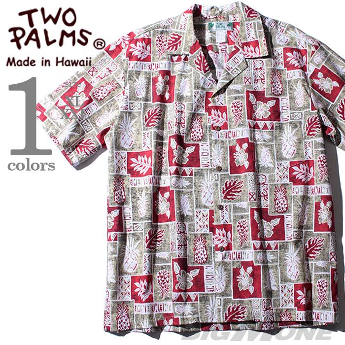 大きいサイズ メンズ TWO PALMS  半袖アロハシャツ MADE IN HAWAII 501c-l-pbr