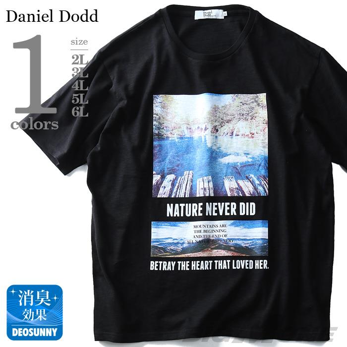 大きいサイズ メンズ DANIEL DODD 半袖 Tシャツ スラブ フォトプリント 半袖Tシャツ NATURE NEVER DID)\ azt-180293