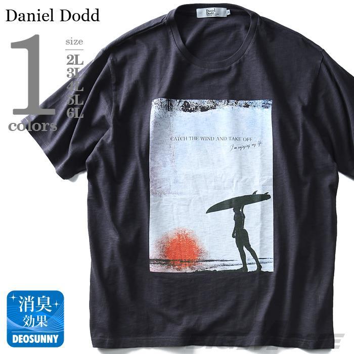 大きいサイズ メンズ DANIEL DODD 半袖 Tシャツ スラブ フォトプリント 半袖Tシャツ CATCH THE WIND azt-180294