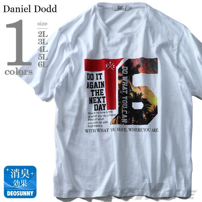 大きいサイズ メンズ DANIEL DODD 半袖 Tシャツ スラブ フォトプリント 半袖Tシャツ DO WHAT YOU CAN azt-180295