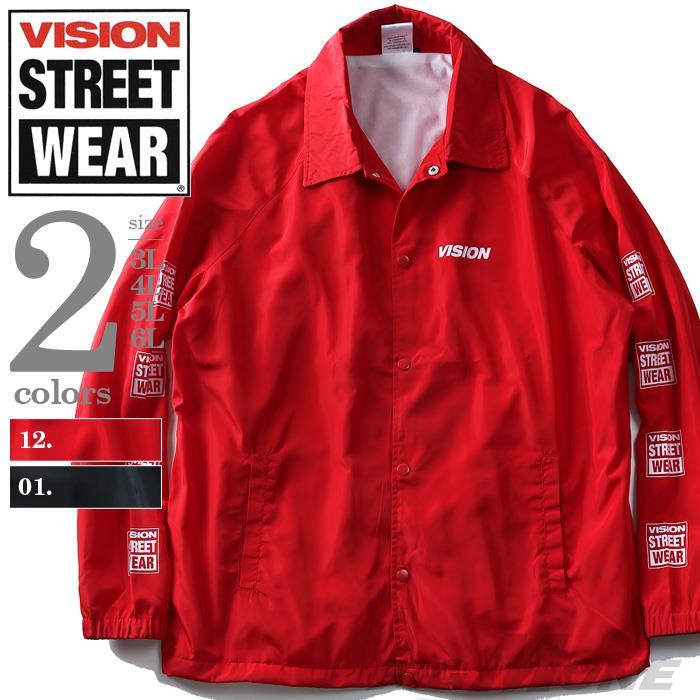 大きいサイズ メンズ VISION STREET WEAR バックプリント付 コート ジャケット アウター 秋冬 新作 8704102