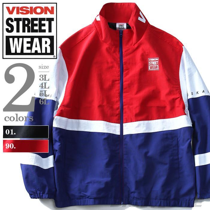 大きいサイズ メンズ VISION STREET WEAR トラックジャケット アウター ジャケット 秋冬 新作 8704104