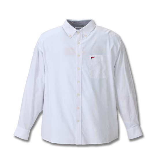 H by FIGER ストレッチオックス長袖B.Dシャツ ホワイト 1167-8352-1