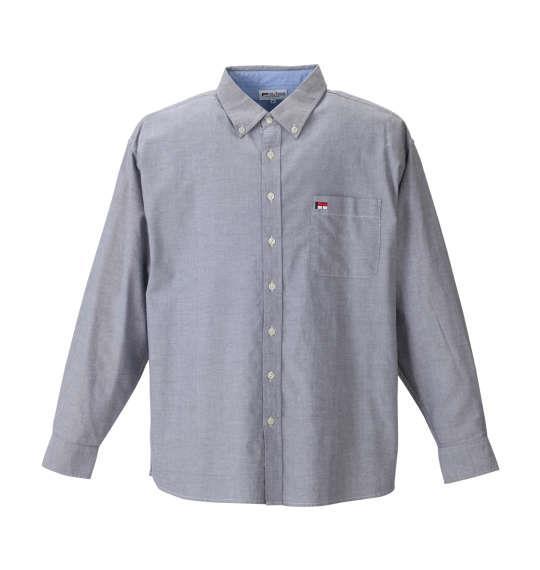 H by FIGER ストレッチオックス長袖B.Dシャツ ブラック 1167-8352-2
