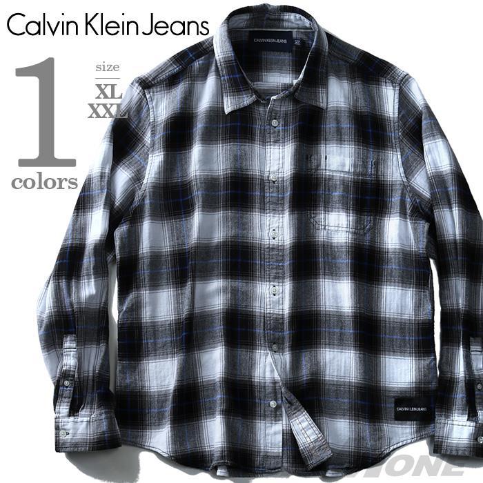 CALVIN KLEIN JEANS 長袖チェックシャツ【USA直輸入】41j9124