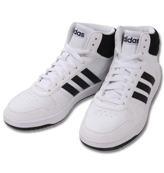 大きいサイズ メンズ adidas スニーカー アディフープスミッド2.0 ランニングホワイト 1140-9203-1 30 31 32