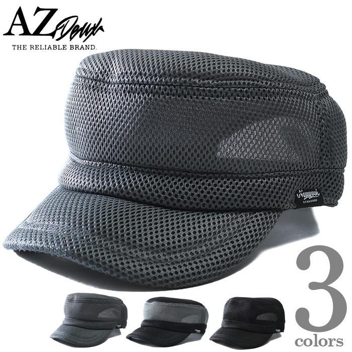 大きいサイズ メンズ AZ DEUX エアメッシュ ワーク キャップ 帽子 春夏新作 714-190302