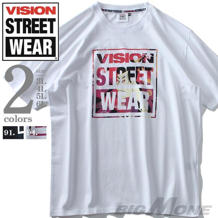 大きいサイズ メンズ VISION STREET WEAR ロゴ プリント 半袖 Tシャツ 春夏新作 9504101