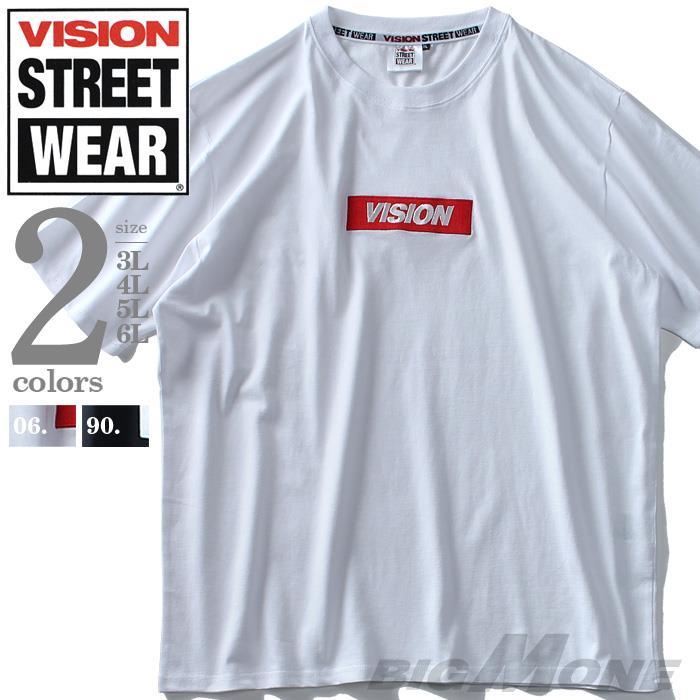 大きいサイズ メンズ VISION STREET WEAR BOXロゴ プリント 半袖 Tシャツ 春夏新作 9504102