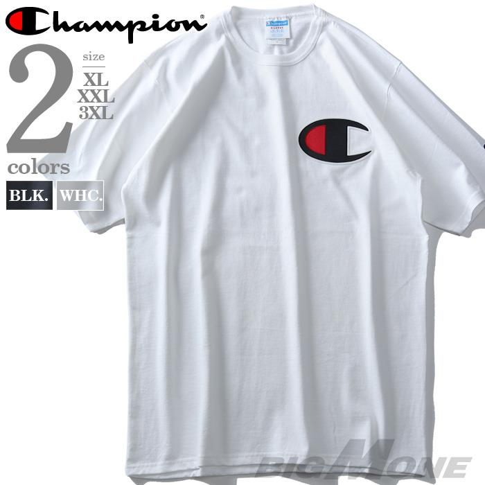 大きいサイズ メンズ Champion チャンピオン ビッグロゴ プリント 半袖 Tシャツ USA直輸入 gt19-y06820