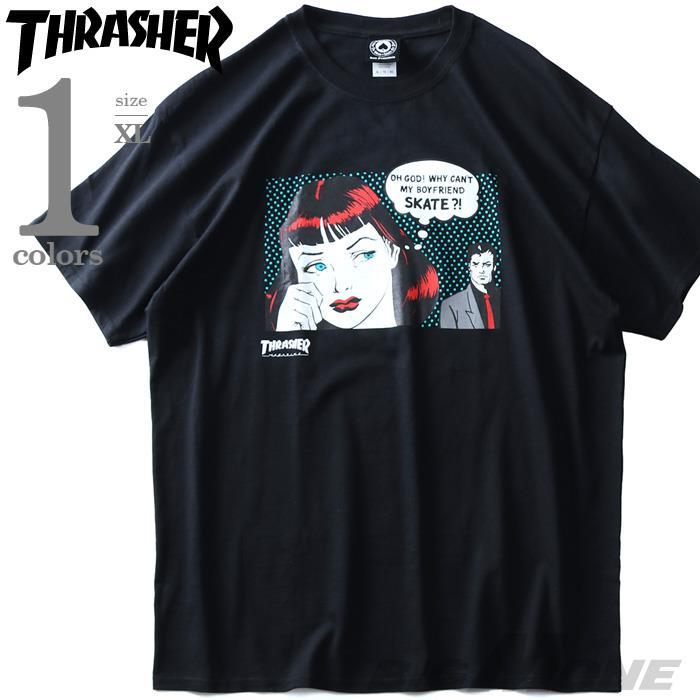 大きいサイズ メンズ THRASHER スラッシャー プリント 半袖 Tシャツ USA直輸入 311192