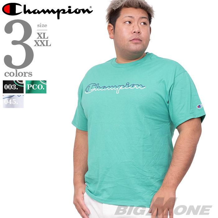 大きいサイズ メンズ Champion チャンピオン プリント 半袖 Tシャツ USA直輸入 gt23h 緊急セール
