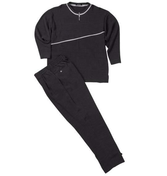 送料無料 ジップクルーTシャツセット ブラック 0027-4123-2 大きいサイズ 3L 4L 5L