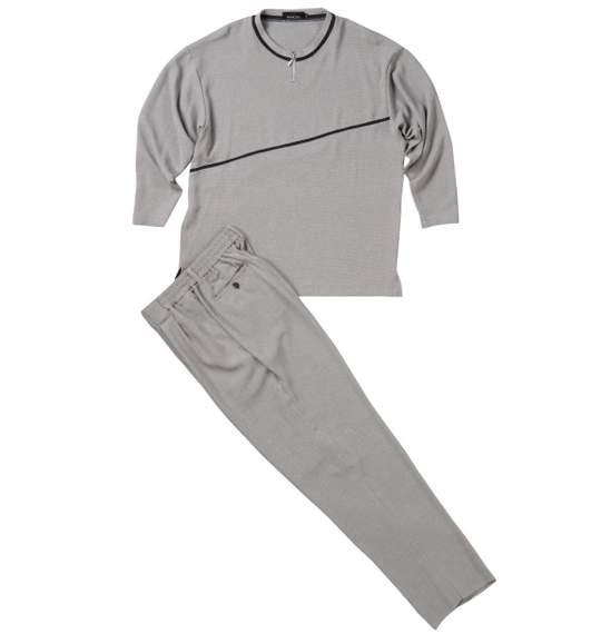 送料無料 ジップクルーTシャツセット グレー 0027-4123-3 大きいサイズ 3L 4L 5L