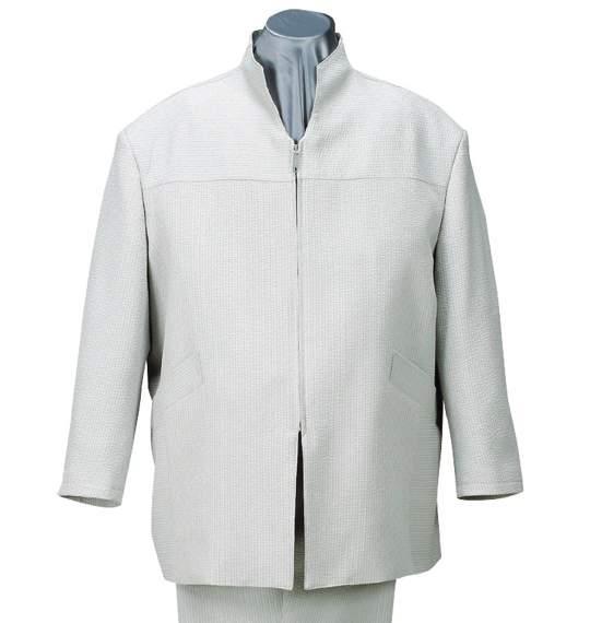 送料無料 スタンドカラーシャツセット グレー 0027-5100-1 大きいサイズ 3L 4L 5L