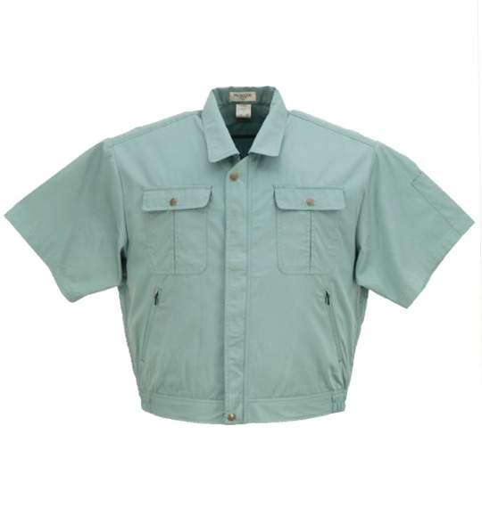 送料無料 メンズ 作業用 ジャケット 半袖 グリーン 1063-8356-1 大きいサイズ 4L