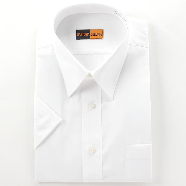 2点目半額 大きいサイズ メンズ SARTORIA BELLINI ビジネス Yシャツ レギュラー 半袖 ワイシャツ ビジネスシャツ 無地 ホワイト 2L 3L 4L 5L 6L 7L 8L hcl110-900