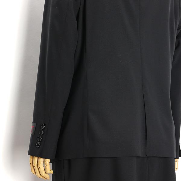レディース ウォッシャブル 黒 無地 2釦スーツ ジャケット 大きいサイズ 21 23 25 27 29 31 34 37 r121040b-1-990