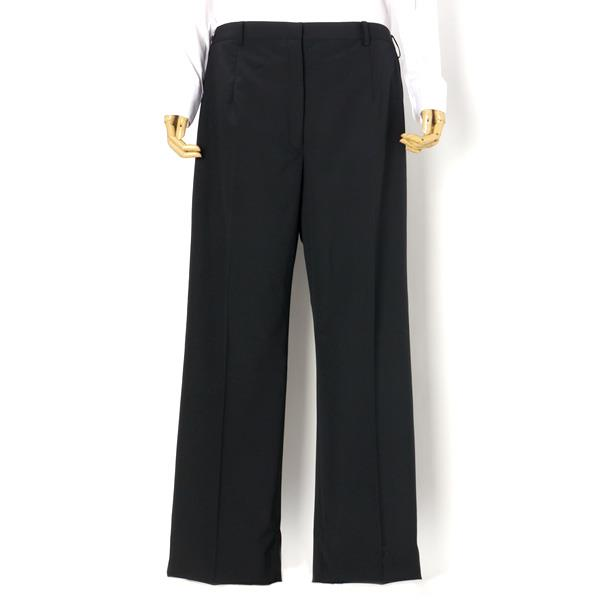 レディース ウォッシャブル 黒 無地 2釦スーツ パンツ 大きいサイズ 21 23 25 27 29 31 34 37 r121040b-2-990