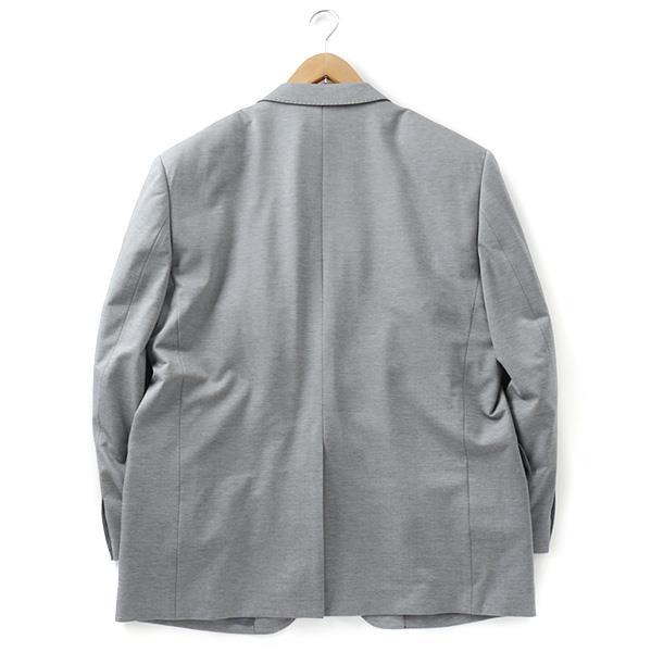 大きいサイズ メンズ 2L 3L 4L 5L チーフ付ニットジャケット グレー 121318-15