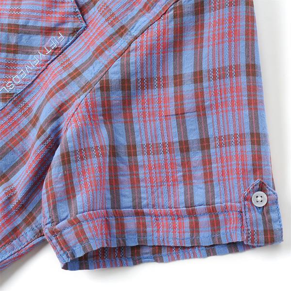大きいサイズ メンズ 55DSL 半袖 シャツ チェックシャツ ブルー系 XL XXL USA 直輸入 05d01z-55a38-d002