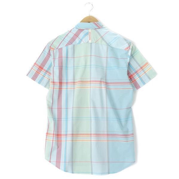 大きいサイズ メンズ 55DSL 半袖 シャツ チェックシャツ ブルー系  XL XXL USA 直輸入 05d022-55a39-d002