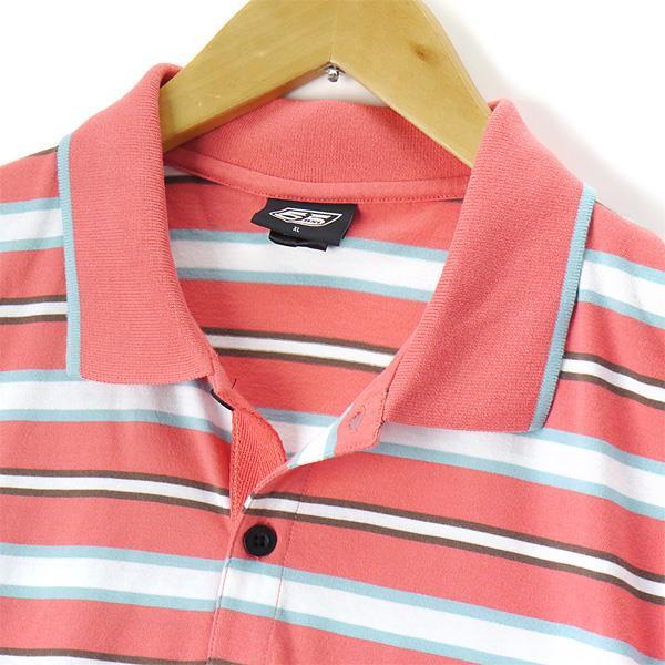 大きいサイズ メンズ 55DSL 半袖 ポロシャツ ピンク系  XL XXL USA 直輸入 05d03n-55a63-d003