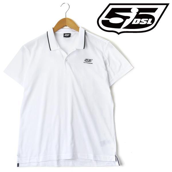 大きいサイズ メンズ 55DSL 半袖 ポロシャツ ホワイト  XL XXL 3XL USA 直輸入 05d03l-00v51-d100