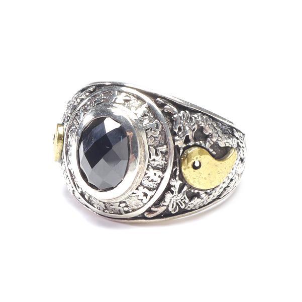 大きいサイズ メンズ シルバーリング 龍 カレッジ風 指輪 アクセサリー SILVER 925 Men's Ring 23号 hgring-05