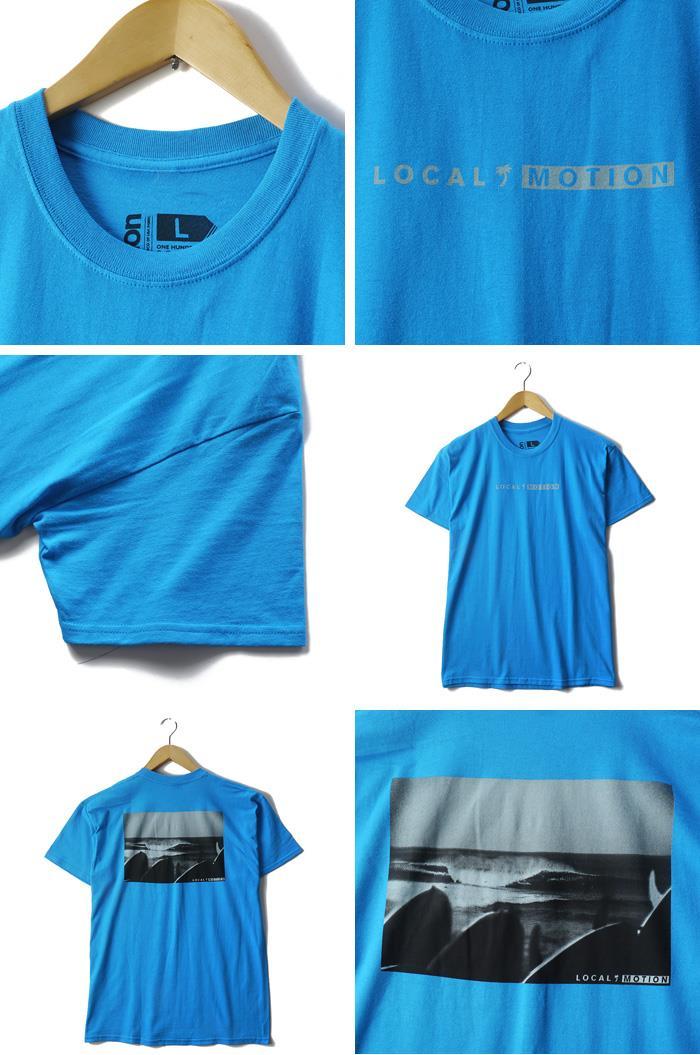 大きいサイズ メンズ L XL LOCAL MOTION (ローカルモーション) プリント半袖Tシャツ USA直輸入 2013lm-07