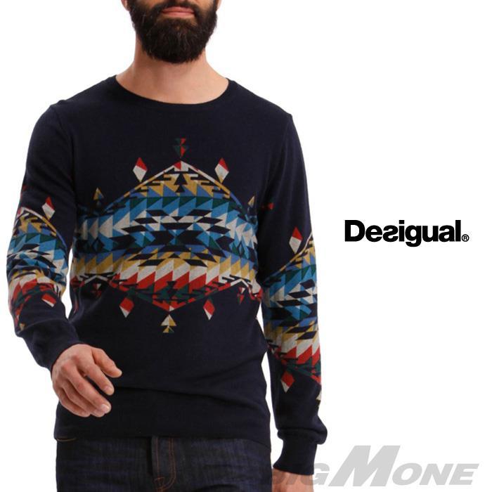 大きいサイズ メンズ XL XXL 3XL DESIGUAL (デシグアル) デザインセーター (Maiquel) 37j1127
