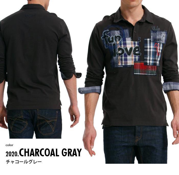 大きいサイズ メンズ XL XXL 3XL DESIGUAL (デシグアル) デザインポロシャツ (Fun, Love, Sexy) 38l1720