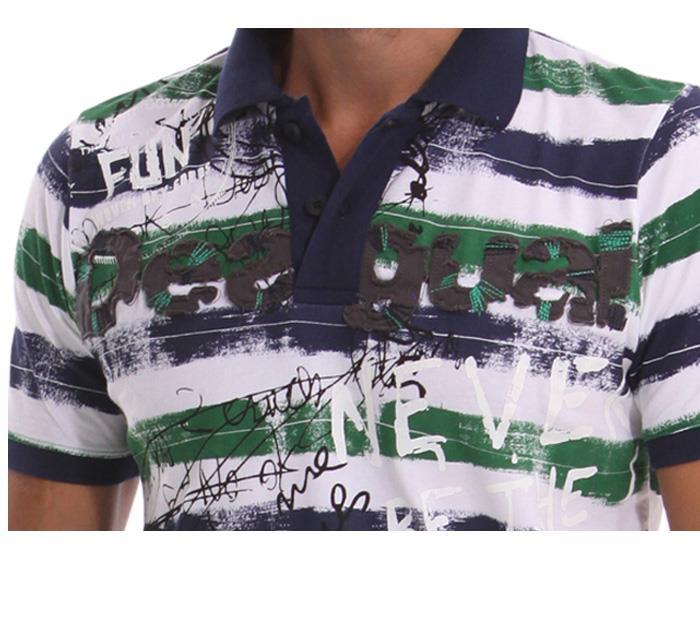 大きいサイズ メンズ XL XXL 3XL DESIGUAL (デシグアル) 半袖ポロシャツ (Bobby) 42l1711