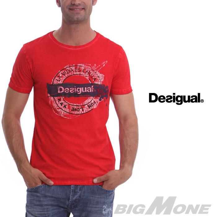 大きいサイズ メンズ XL XXL 3XL DESIGUAL (デシグアル) 半袖Tシャツ (Underground DSGL) 41t1473