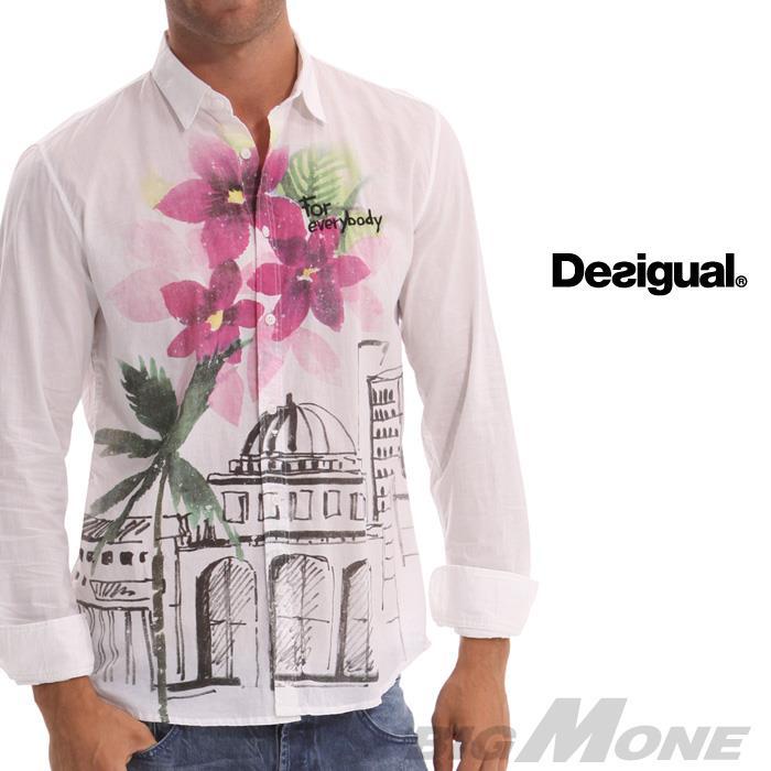 大きいサイズ メンズ XL XXL 3XL DESIGUAL (デシグアル) カジュアルシャツ (Ciudad Flores) 42c1280