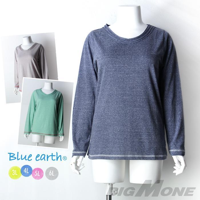 大きいサイズ レディース Blue earth カットソー azld-1456