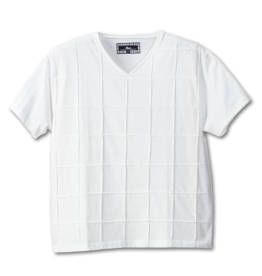 大きいサイズ メンズ Beno ピンタック 半袖 Vネック Tシャツ 半袖Tシャツ ホワイト 1158-4263-1 3L 4L 5L 6L