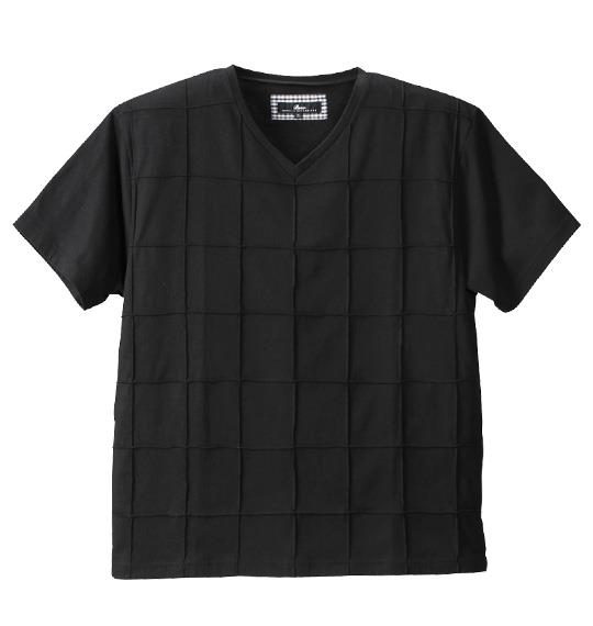 大きいサイズ メンズ Beno ピンタック 半袖 Vネック Tシャツ 半袖Tシャツ ブラック 1158-4263-2 3L 4L 5L 6L