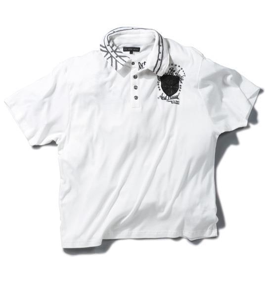 大きいサイズ メンズ in the attic パッチワーク 半袖 ポロシャツ オフホワイト 1158-4253-1 3L 4L 5L 6L