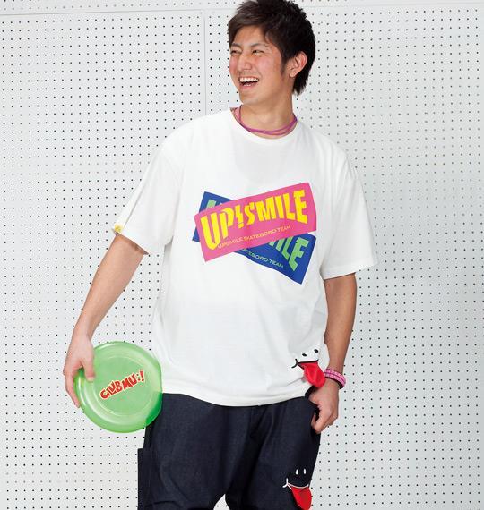 大きいサイズ メンズ UP!SMILE 重ねボックス ロゴ 半袖 Tシャツ 半袖Tシャツ ホワイト 1168-4235-1 3L 4L 5L 6L